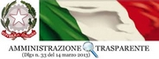 Bandiera italiana con scritta Amministrazione trasparente