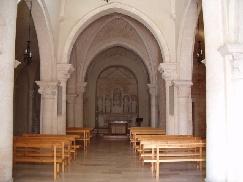 Foto dell'interno della chiesa