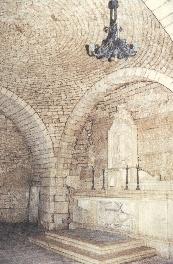 Foto interno della Cripta-Grotta sottostante alla Chiesa Madonna della Catena