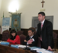 Foto del Vice Sindaco Antonio Lattanzio durante un intervento al Convegno