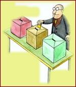 Fotografia di un seggio elettorale