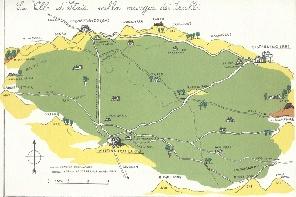 cartina delimitante la zona della Valle d'Itria