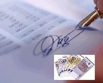 Immagine di un modulo di pagamento con monete euro