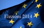 Bandiera europea con scritta elezioni 2014
